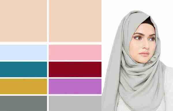 الوان الحجاب المناسبة للبشرة البيضاء